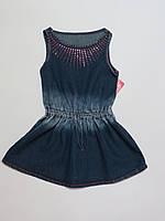 Сарафан/платье джинс для девочек 2-3года