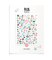 "Слайдеры для ногтей Hub Nail ""I'M A GIRL"""