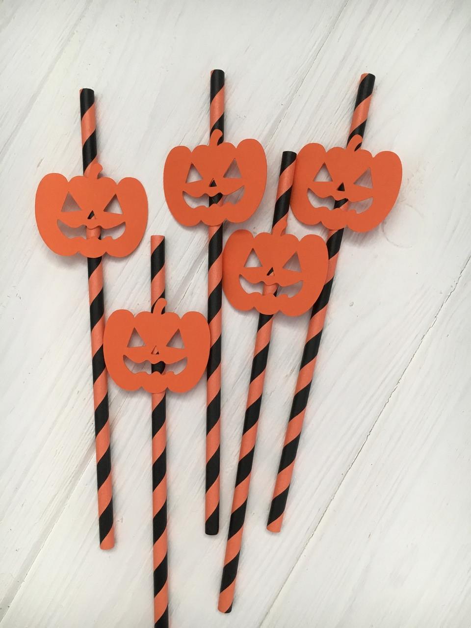"Паперові трубочки ""Halloween -5"" (10 шт.)"