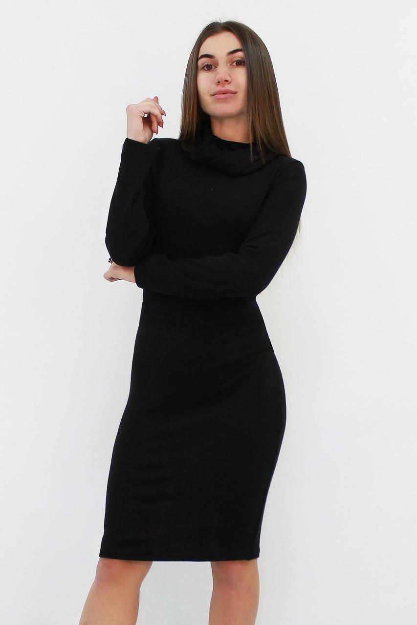 Ангоровое платье с хомутиком Rebeka, черный