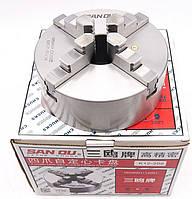 Патрон токарний 4-х кулачковий 100мм ,7100-0002П , К12-100, San Ou