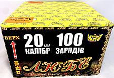 """Салют """"Любє"""" на 100 пострілів Феєрверк 20 калібр СУ 20-100, фото 2"""
