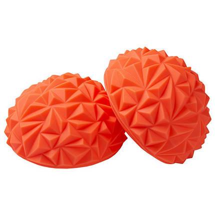 """Балансировочная полусфера """"риф"""" оранжевая 1шт, фото 2"""