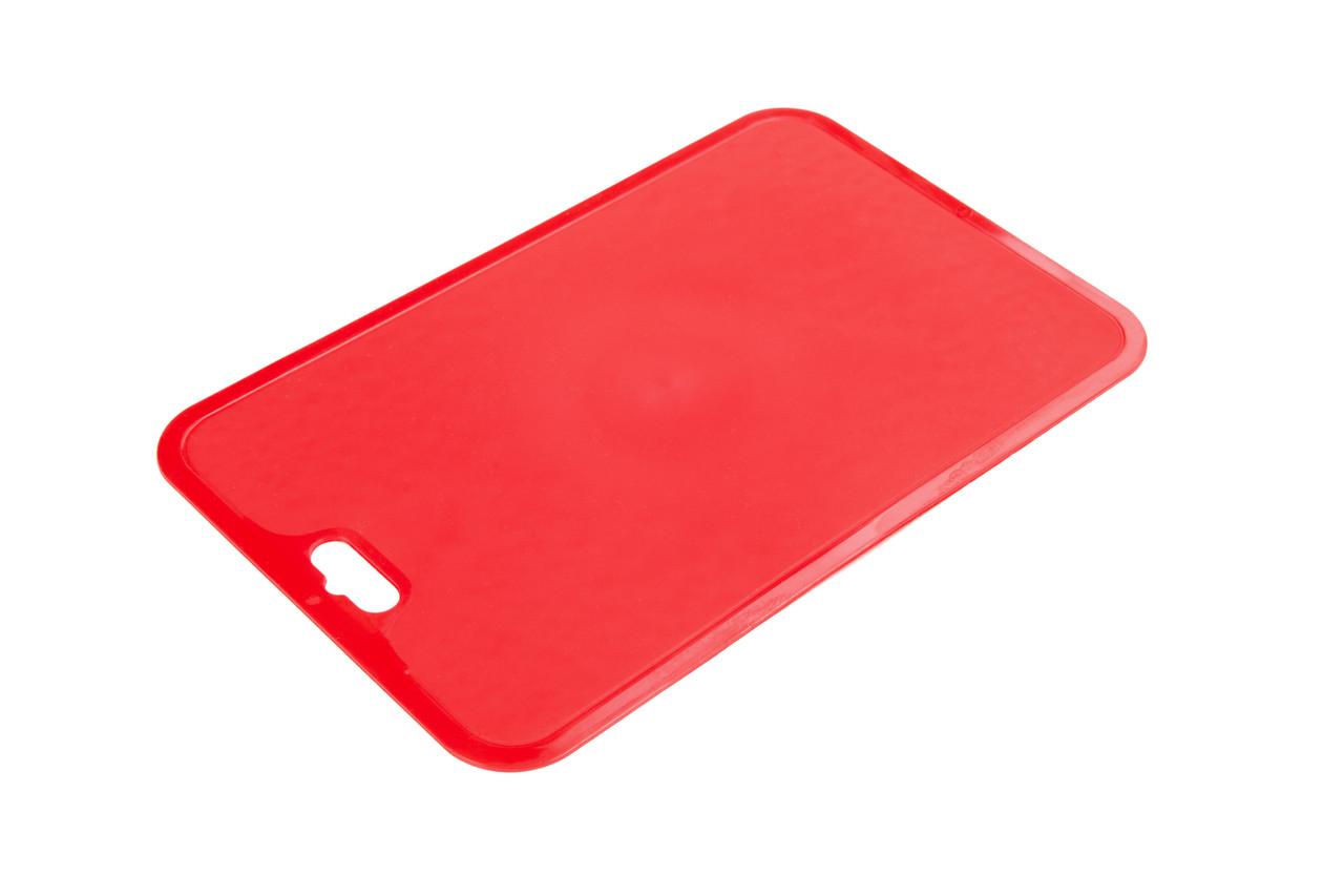 Гибкая силиконовая разделочная доска нескользящая Berossi Flexi 32х21 см красный