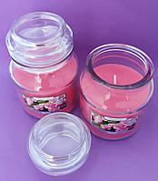 Свеча ароматизированная в сосуде AURA Bispol с запахом розы время горения 30 часов