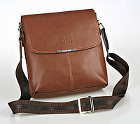 Хит продаж! Красивая, мужская, коричневая сумка-планшет Polo Отличное качество. КС5