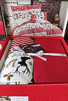 Комплект постельного белья фланель Christmas Breeze Belizza Евро размер