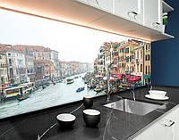 Фартук для кухни Венеция, гондолы, архитектура ПЭТ панель 62 х 205 см (cd153-5)