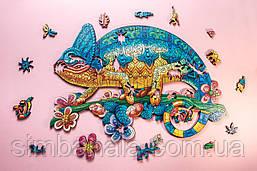 Пазл дерев'яний GoPuzzle Хамелеон, 147 деталей