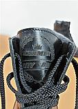 Ботинки женские кожаные черные на танкетке 144017, фото 3
