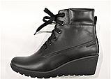 Ботинки женские кожаные черные на танкетке 144017, фото 2