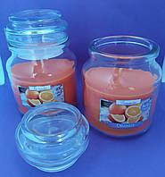 Свеча ароматизированная в сосуде AURA Bispol с запахом апельсина время горения 30 часов