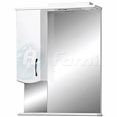Зеркало белое ZP 55*74 см БЕЗ подсветки левое