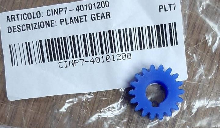 Шестерня пластикова (ø30мм / 18 зубців) для планетарного міксера Sirman Plutone 7