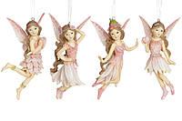 Декоративная подвесная фигурка Фея, 11.5см, 4 вида, цвет - розовый, в упаковке 8шт. (707-559)