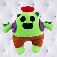Мягкая игрушка Спайк из игры Бравл старс / 22 см, популярный герой Spike из игры Brawl Stars, фото 1