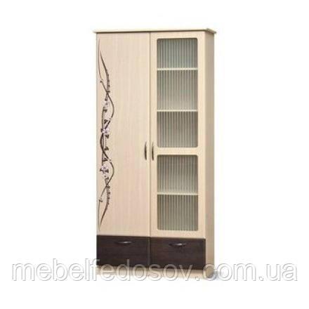 Шкаф 2Д Ск Сакура  (Світ меблів) 1000х460х2100мм