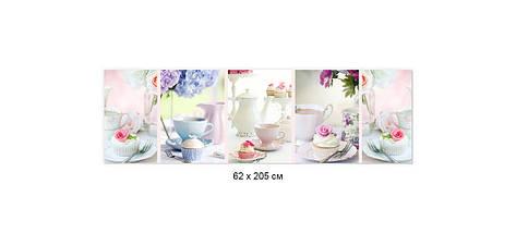 Скинали с фотоизображением чаепитие, чай с молоком, кексы, завтрак ПВХ панель 62 х 205 см (ed600-5), фото 2