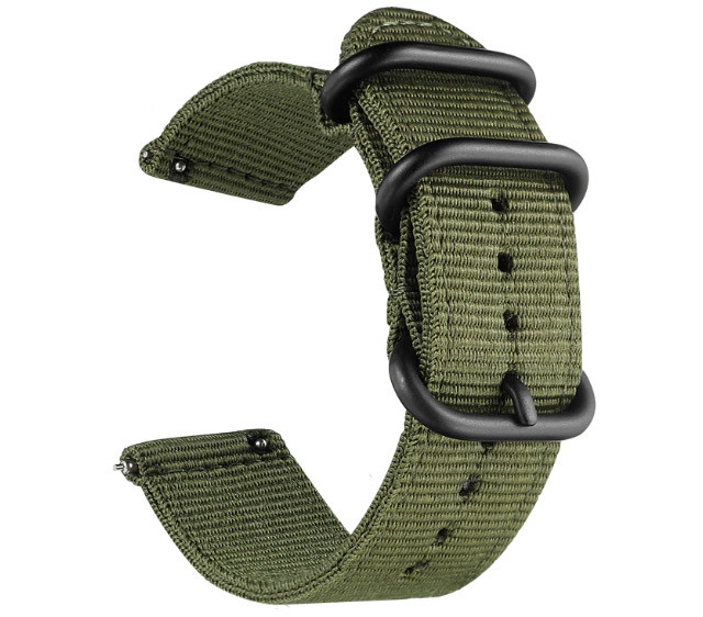 Нейлоновий ремінець Primo Traveller для годин Garmin Vivoactive 4 - Army Green