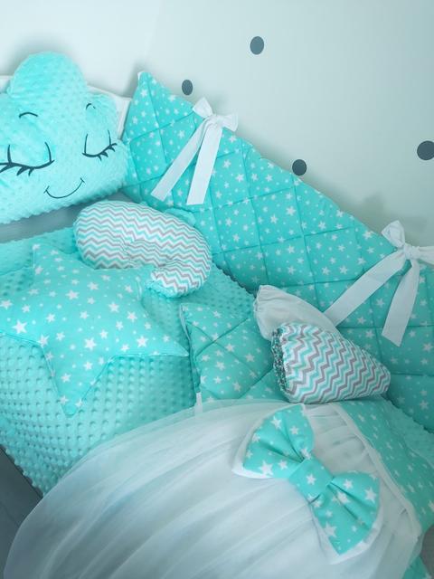 Постельное белье в детскую кроватку, балдахины