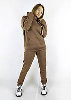 Модный женский спортивный костюм цвета мокко с капюшоном на весну S, M, L