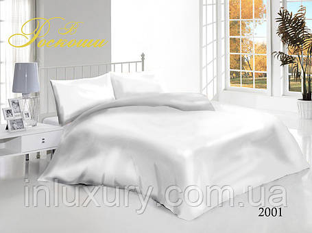 Полуторный комплект постельного белья Белый, фото 2