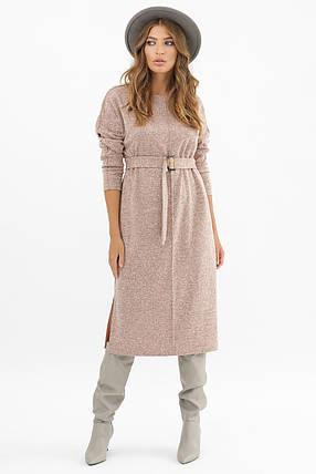 Городское зимнее платье под пояс Размеры   S M L XL, фото 2