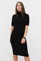 S, M, L   Тепле та зручне ангорове плаття Florida, чорний