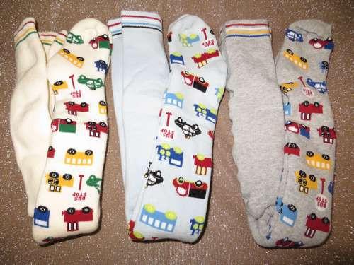 Колготки для новорожденных махровые 7540 машинки