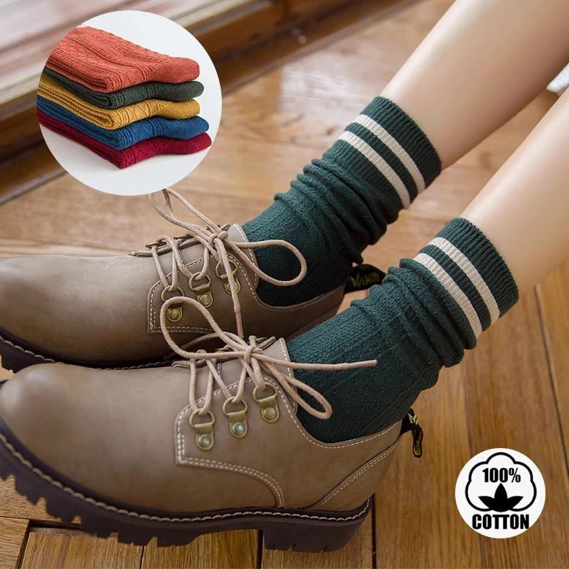 Шкарпетки жіночі, ZLEEI, демісезонні, з контрастною гумкою, подовжені