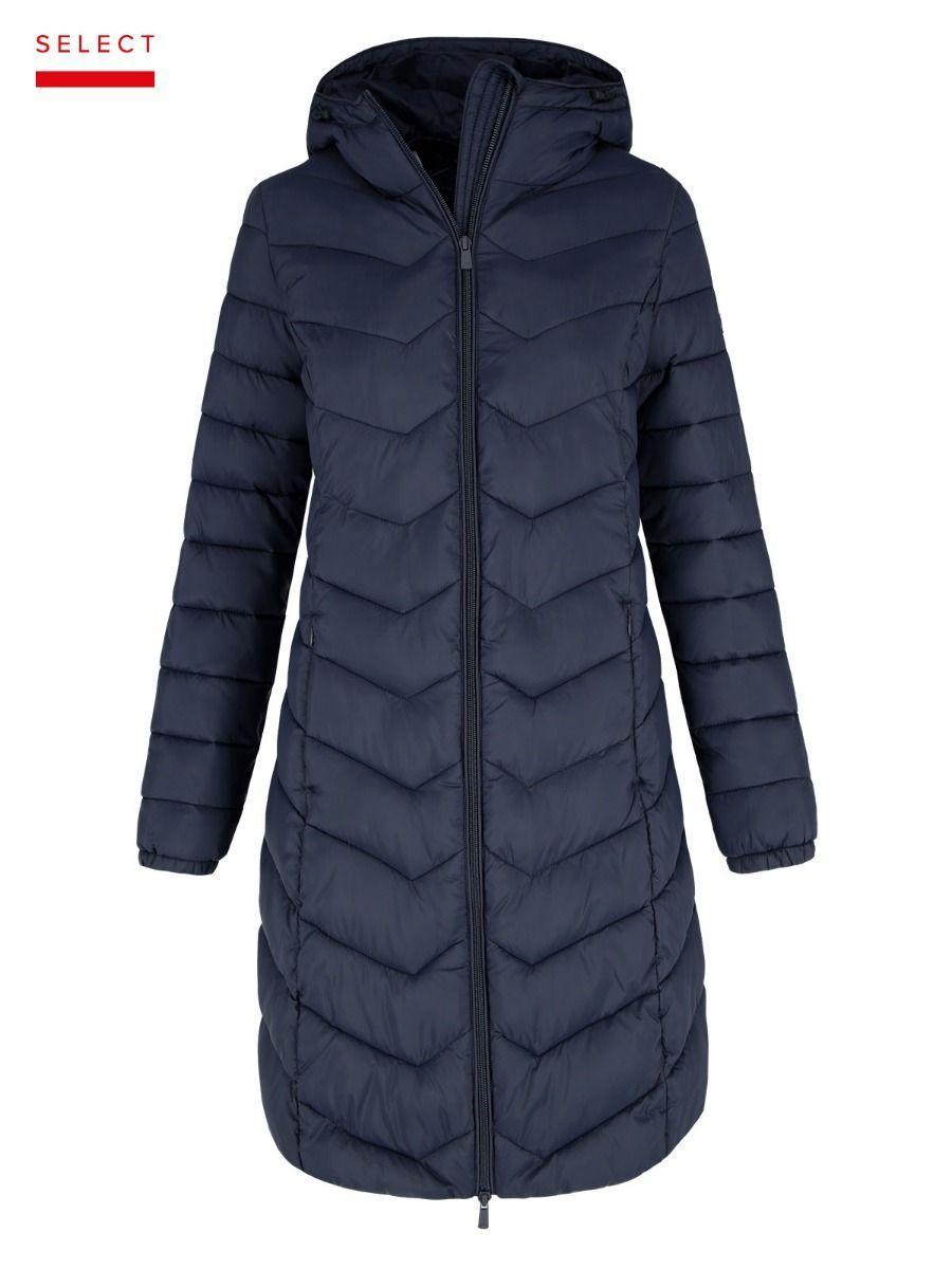 Синяя женская куртка пальто Volcano J-Iris L22030-600