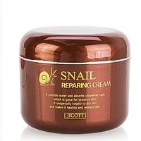 Крем для лица с экстрактом слизи улитки восстанавливающий Jigott Snail Reparing Cream 100 мл