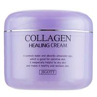 Питательный крем для лица с коллагеном Jigott Collaagen Healing Cream 100 мл