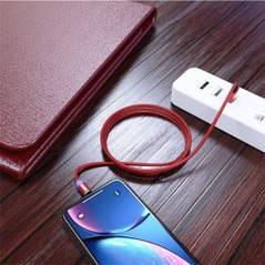 Магнитный кабель для зарядки телефона Apple Lighting  2м красный