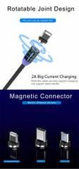 Магнитный кабель для зарядки телефона мікро-USB  2м черний