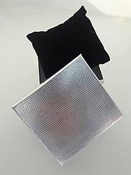 """Подарункова коробочка для годинників """"Фольга"""" срібло.9х8х5,5 см"""