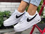 Женские зимние кроссовки Nike Air Force (белые) 9930, фото 3