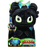 "Dreamworks Dragons как приручить дракона Мягкая игрушка Беззубик 6052481 Squeeze Roar Toothless 11"" Plush, фото 4"