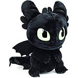 "Dreamworks Dragons как приручить дракона Мягкая игрушка Беззубик 6052481 Squeeze Roar Toothless 11"" Plush, фото 3"