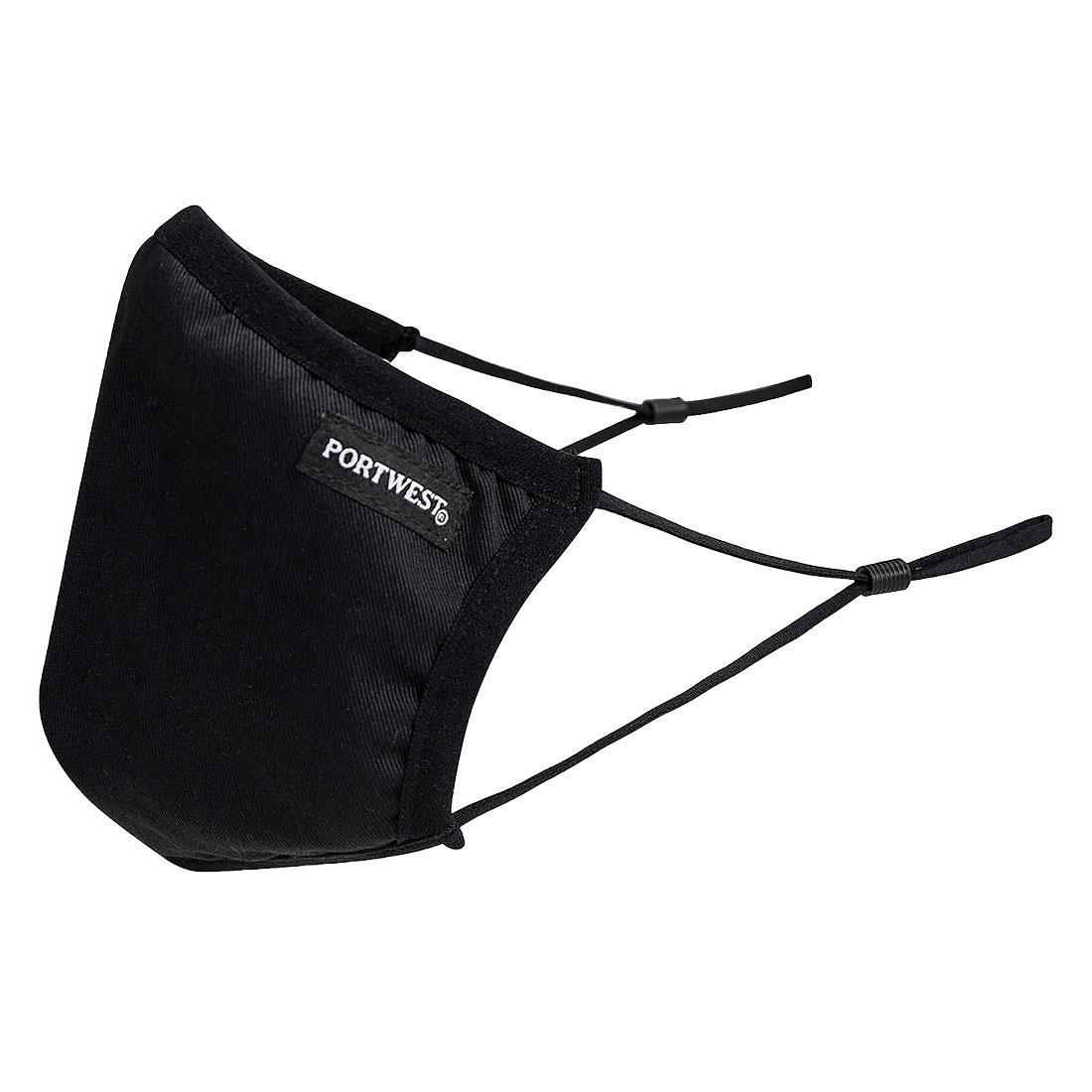 Защитная 3-слойная многоразовая тканевая маска для лица Portwest CV33, черный