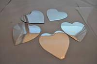 Свадебное конфетти Сердечки серебрянные двухсторонние