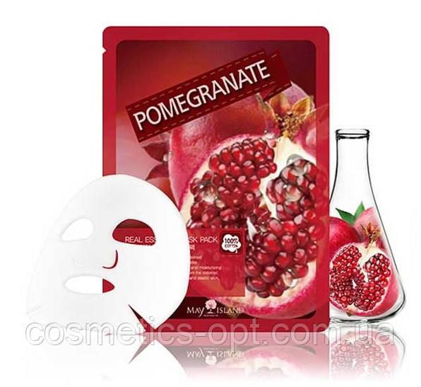 Тканевая маска для свежести кожи с экстрактом граната May Island Real Essence Pomegranate Mask Pack