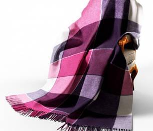 Вовняний плед Vladi Ельф лілово-фіолетовий, фото 2