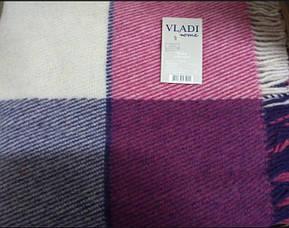 Вовняний плед Vladi Ельф лілово-фіолетовий, фото 3