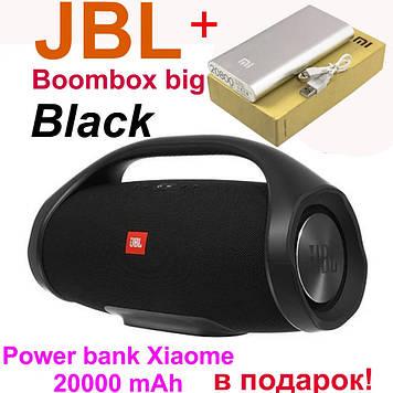 Портативная колонка JBL Boombox big. Black (Черный). Джибиэль бумбокс 40 ват. Блютуз колонка.