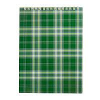 Записная книга блокнот Buromax A5 48 л клетка на пружине зеленый (BM.2470-04)