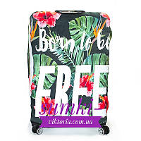 Чехол для большого чемодана дайвинг born to be free