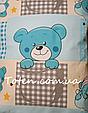 Прямоугольная подушка в детскую кроватку размер 35*45 см хлопок 100%. Подушка для коляски, люльки, дет сада, фото 4