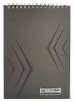 Записная книга блокнот Buromax Jobmax A5 48 л клетка на пружине серый (BM.2474-09)