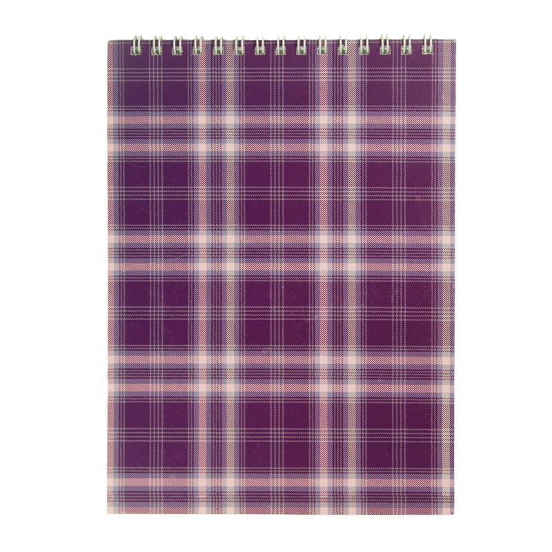 Записная книга блокнот Buromax A5 48 л клетка фиолетовый (BM.2470-07)